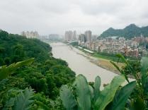 Vue sur le quartier Xindian depuis les collines